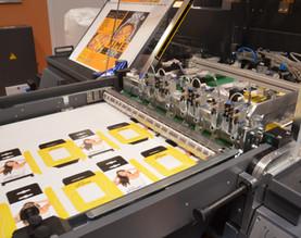 Demo-Produkte für die Veredelungsmaschinen