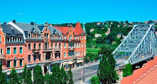 viertel4 finden Sie in Dresden am Blauen Wunder - über der Targo-Bank