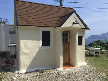 モルタル造形 小屋