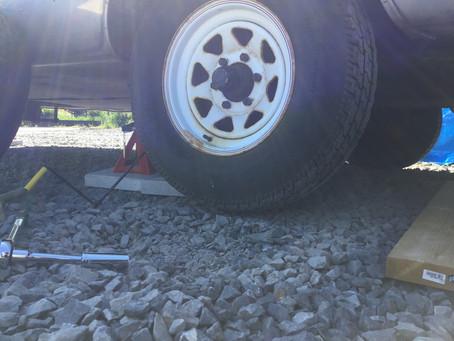 エアストリームのタイヤ、ホイール交換