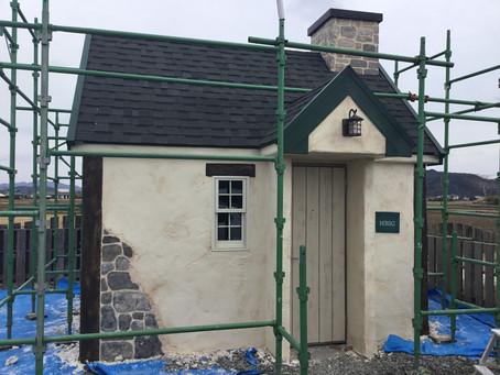 モルタル造形小屋完成