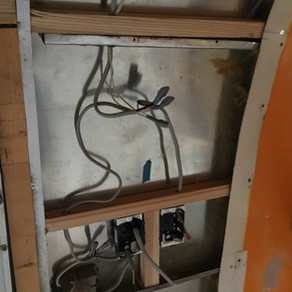 エアストリーム(トレーラー)の内装工事写真です