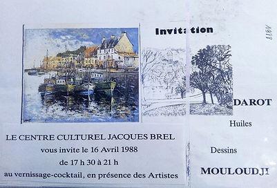 Exposition à Metz avec le chanteur Mouloudji