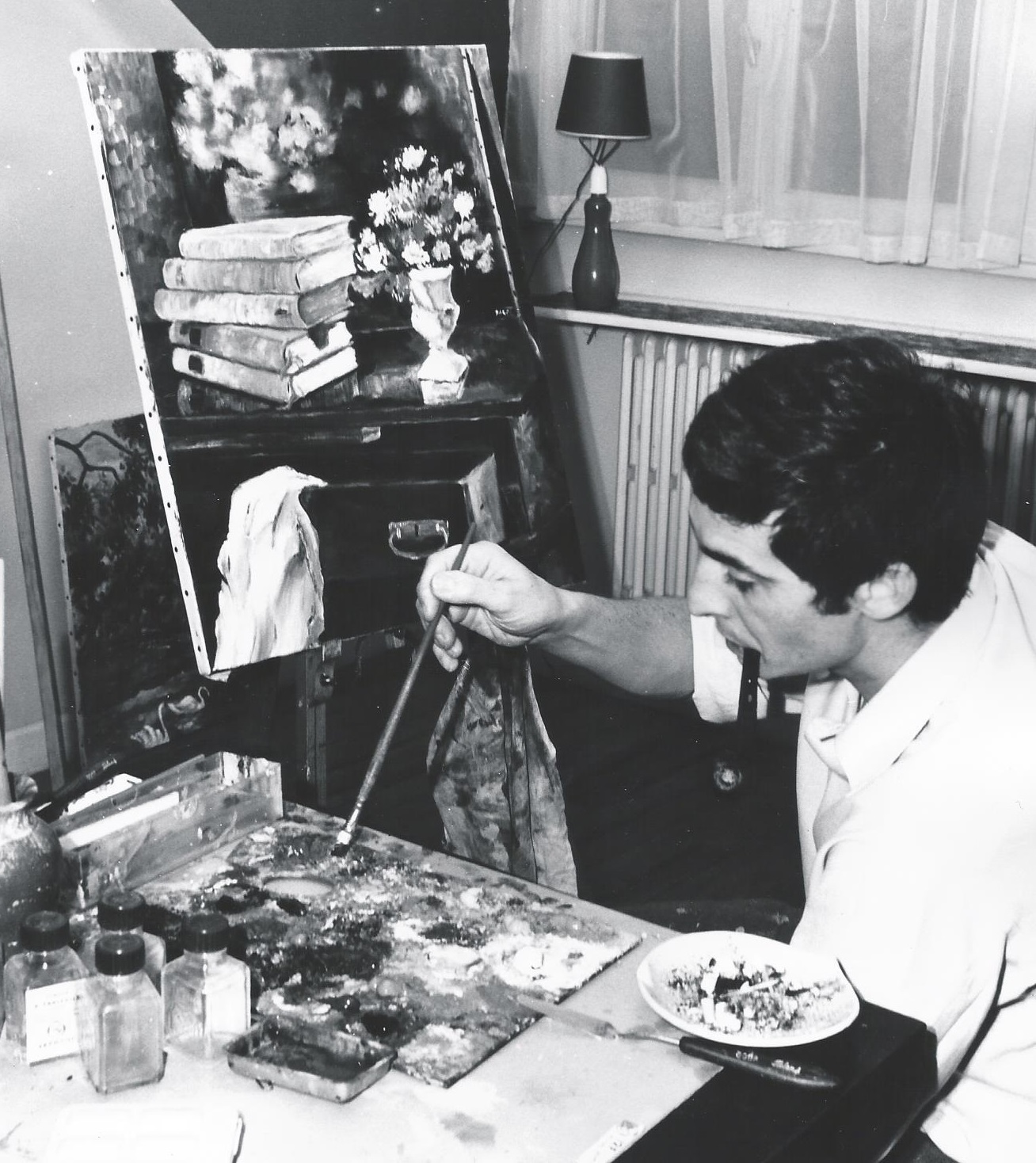 Darot dans son atelier 1969