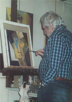 Darot dans son atelier 2003