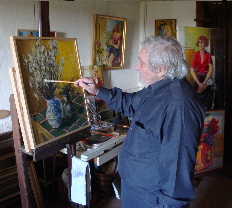 Darot dans son atelier dans l'Indre
