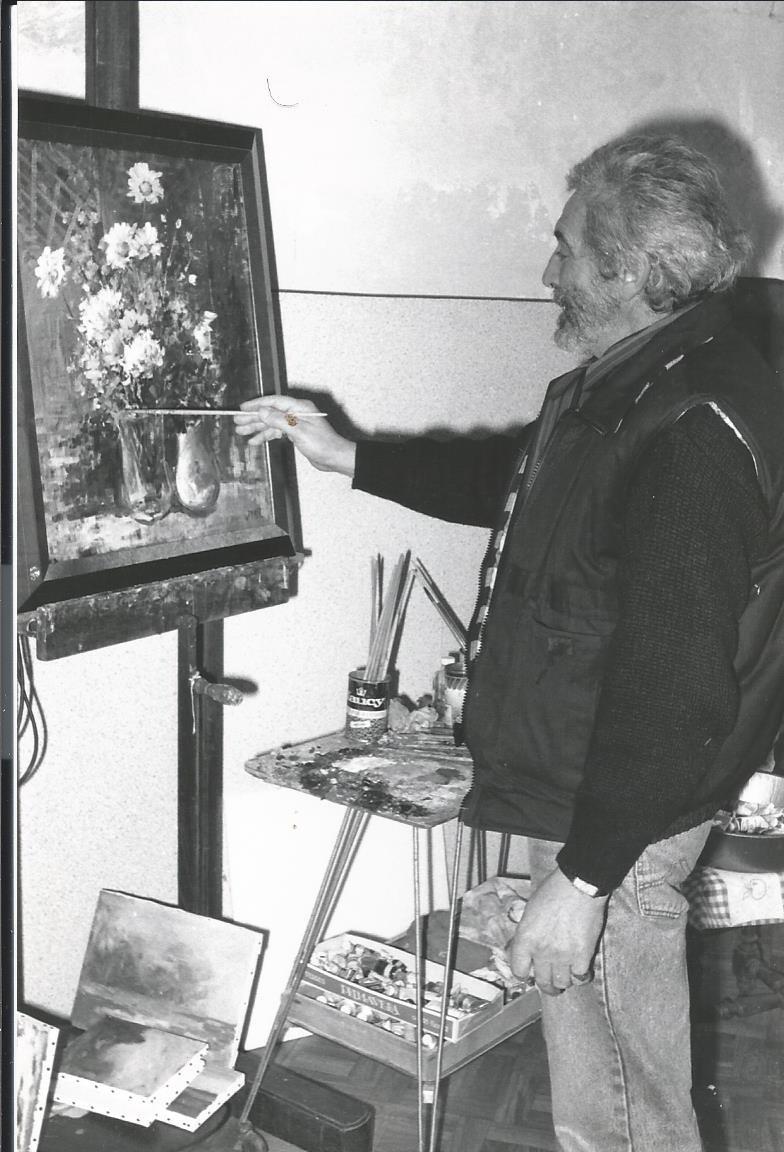 Darot dans son atelier Indre