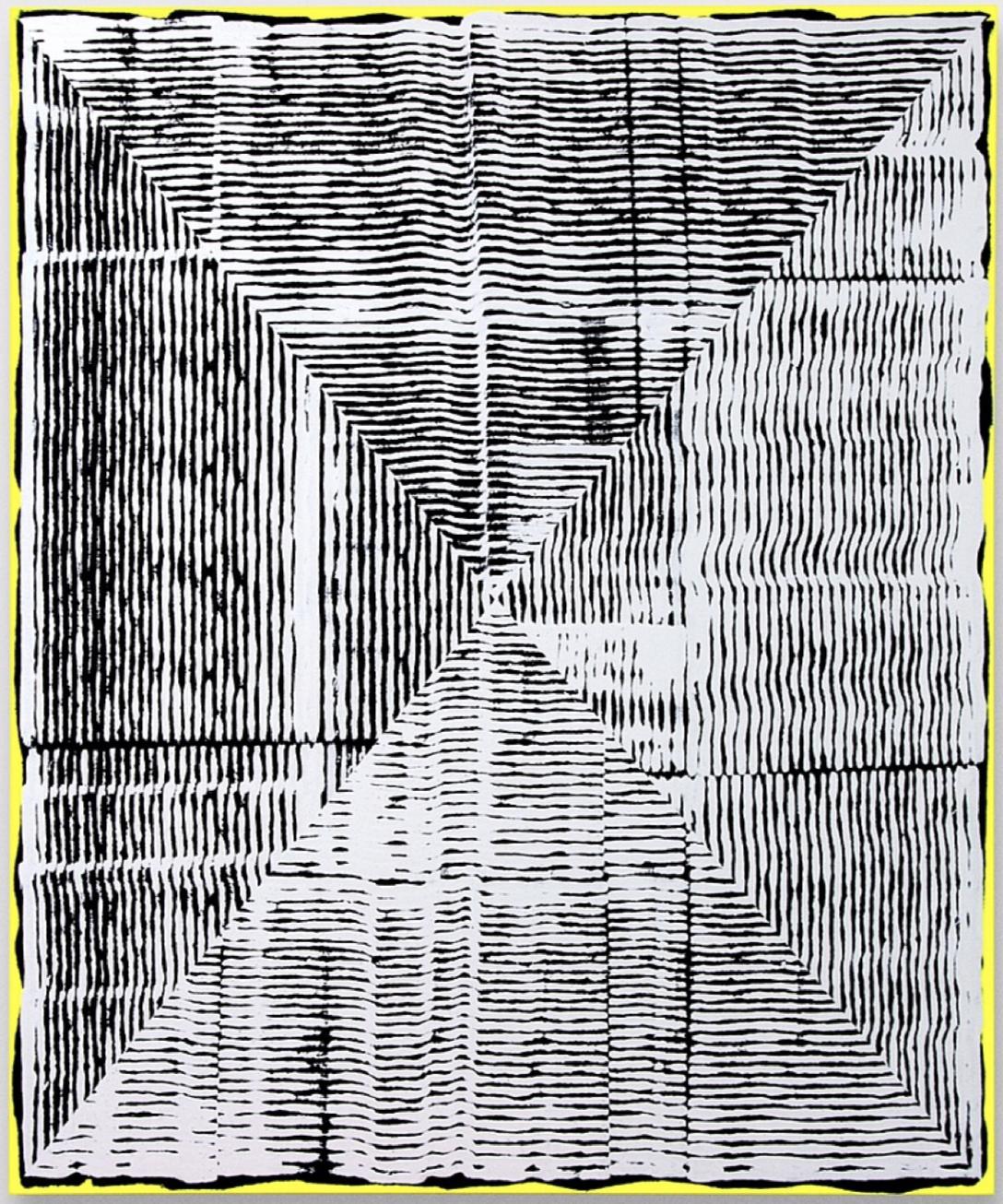 Kundalini (White Black) Loop Paintin