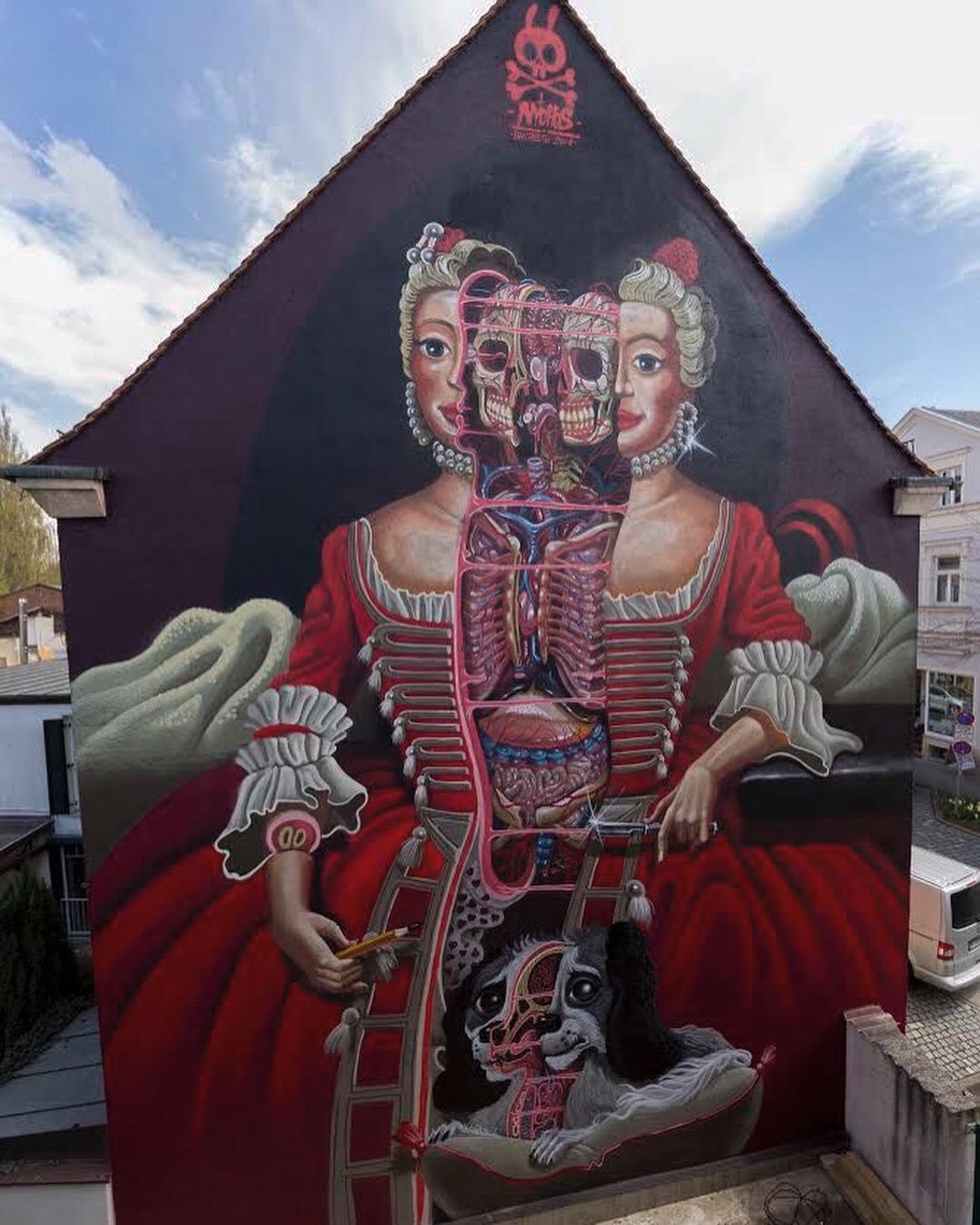 """Mural """"Wilhelmine von Bayreuth"""""""