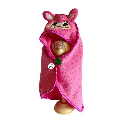 Bata de baño para perritos - color rosado