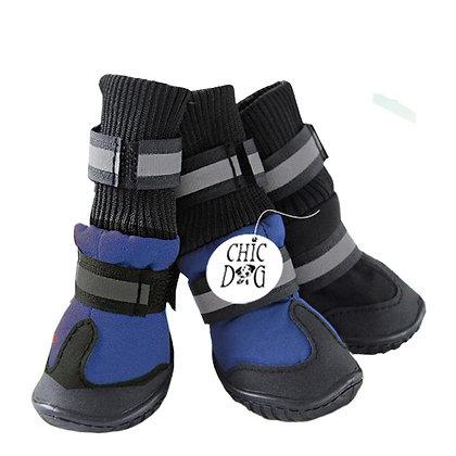 Zapato de perro para montaña - color azul con negro
