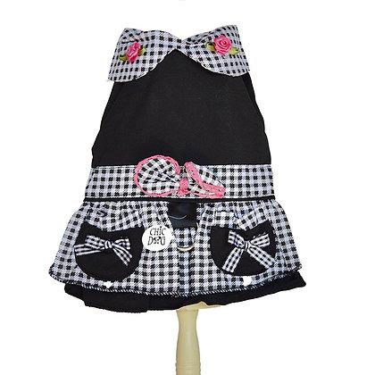 Vestido con arnés incluido - diseño de Betty O - color negro
