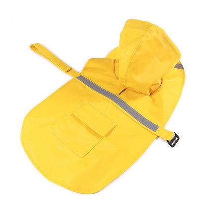 Impermeable para la lluvia para perros - color amarillo