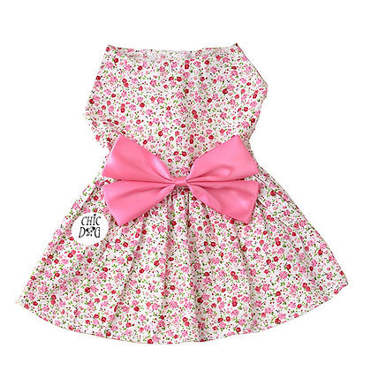 Vestido primaveral renoir para perrita - color rosado