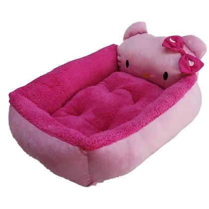 Cama de Hello Kitty para perrita - color fucsia