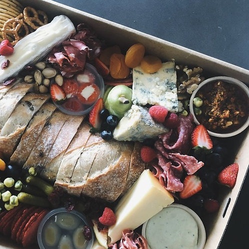 GRAZING BOX + Wine - Irish Cheese + Charcuterie Box