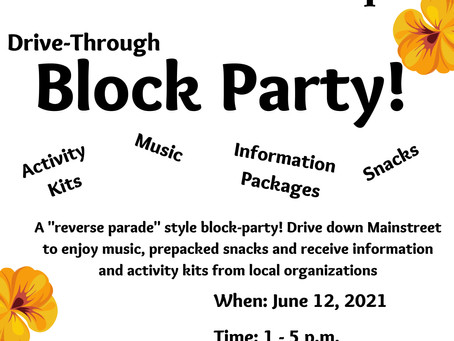 Join us for a Drive-Thru Block Party