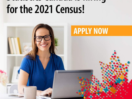 Statistics Canada is hiring in our area!