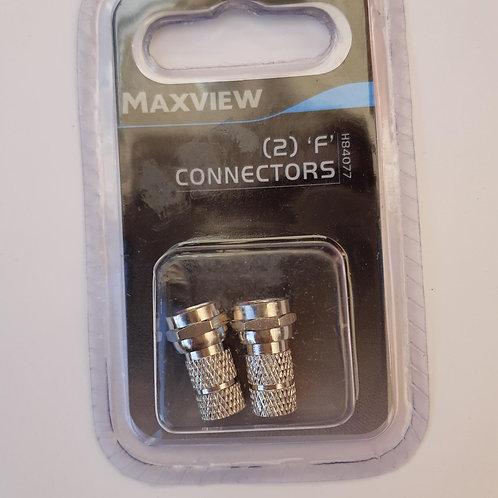Maxiview (2) 'F' Connectors