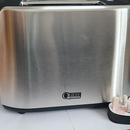 Quest 2 Slice Low Wattage Brushed Steel Toaster