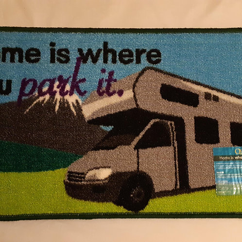 Home is Where You Park It Motorhome Washable Mat
