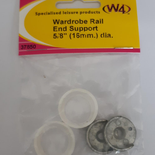 W4 Wardrobe Rail End Supports 16mm dimeter