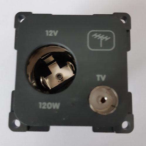 CBE 12v - 12w Cigarette lighter type + TV Socket
