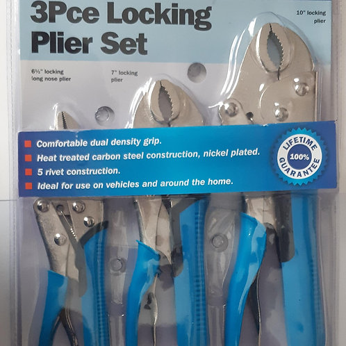 Streetwize 3pce Locking Plier Set