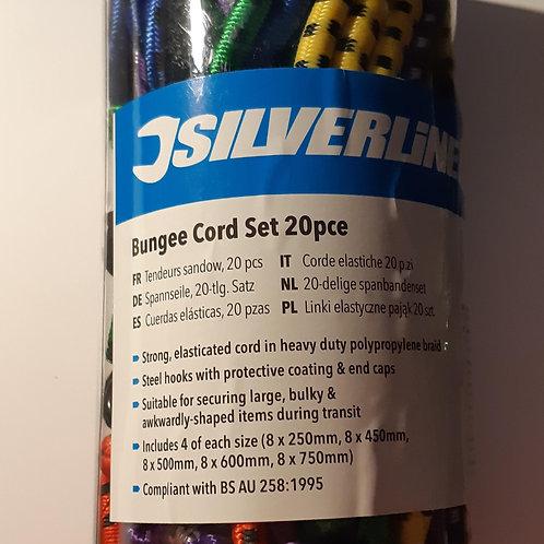 Silverline Bungee Cord Set 20pce