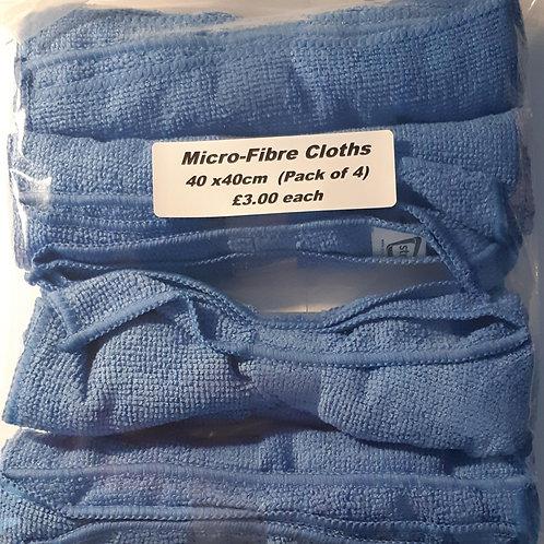 Streetwize Micro-Fibre Cloths 40 x 40cm pk4