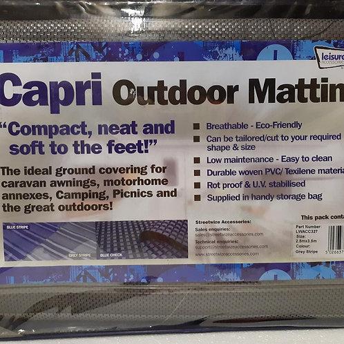 Grey Stipe Capri Awning Matting 2.5 x 3.5M