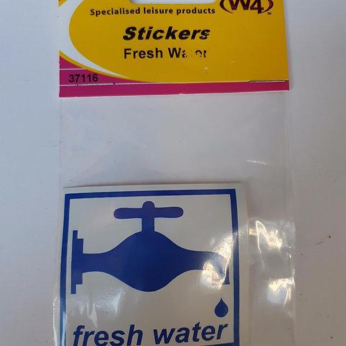 W4 Fresh Water Sticker