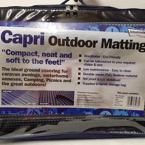 Blue Checked Capri Awning Matting 2.5 x 6.5M