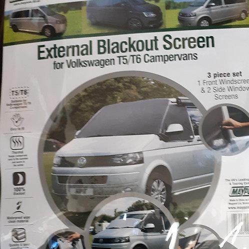 External Blackout Screens for Volkswagen T5/T6