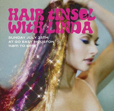 GO EASY: HAIR TINSEL WITH LINDA