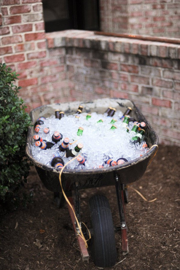 Beer on Ice in Wheelbarrow