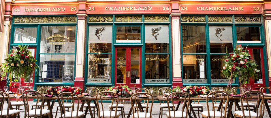 PHOTO SHOOT // Chamberlain's Restaurant, Leadenhall Market, London