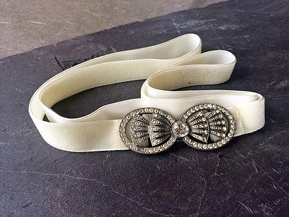 Art Deco Pave Set Paste Belt Buckle
