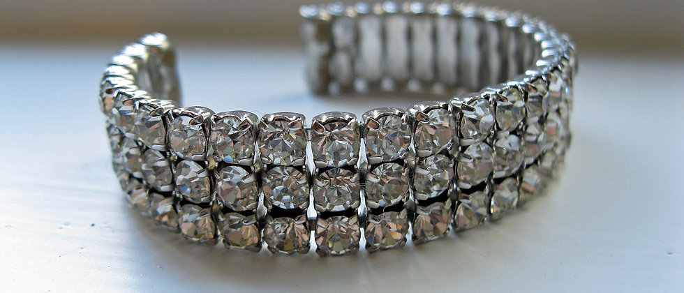 1960's Diamante Cuff Bracelet