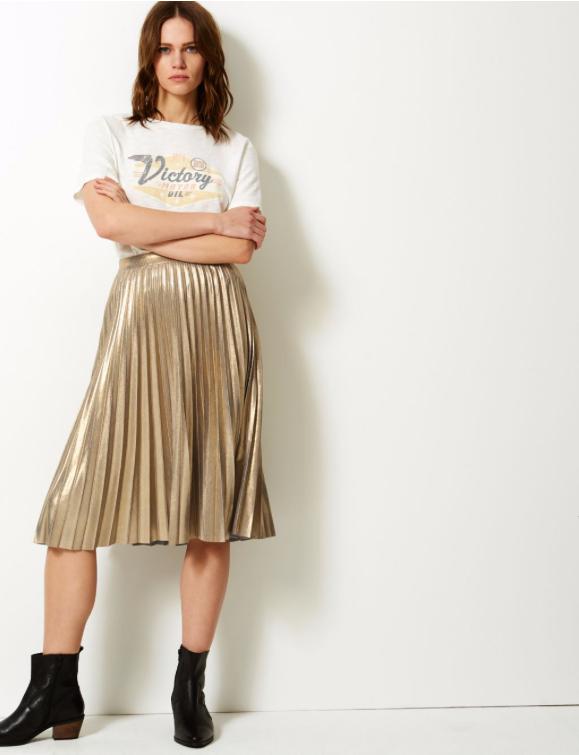 Marks and Spencer metallic skirt £29.50