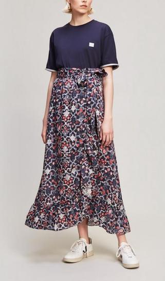 Isabel Marant Linen Wrap Maxi Skirt