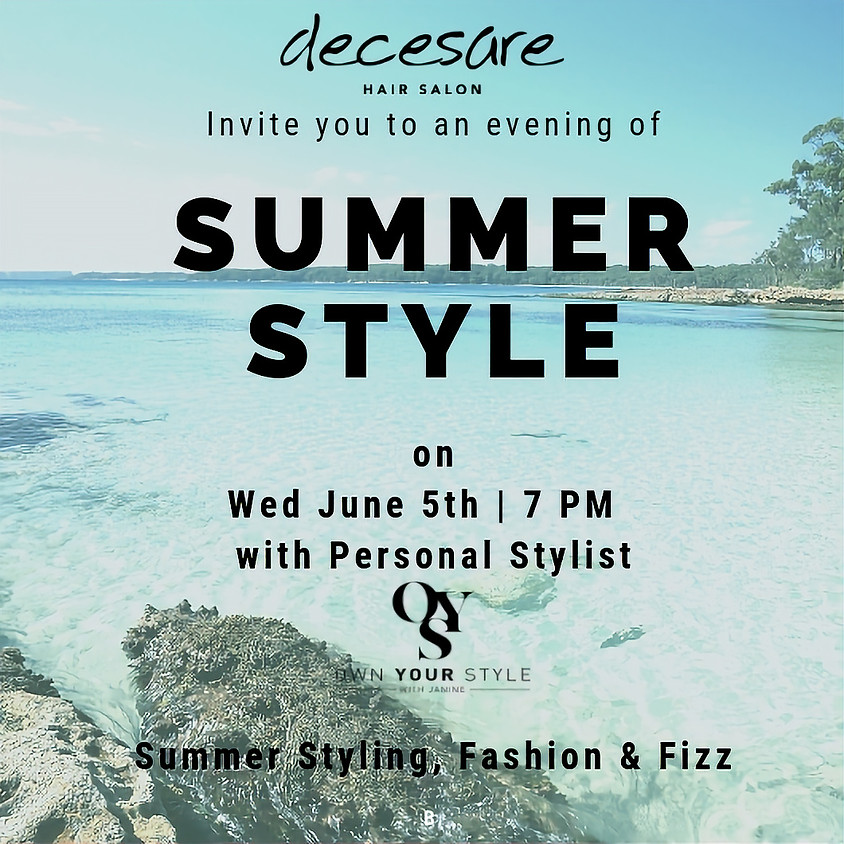 Summer Style Evening * SOLD OUT *
