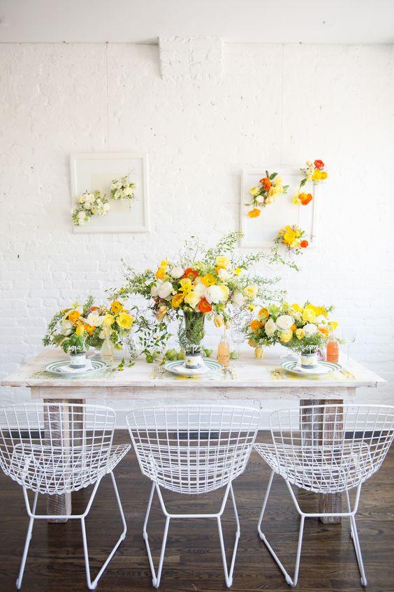 Yellow Wedding Table
