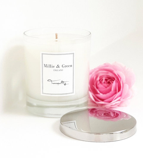 Silver Signature Candle Lid