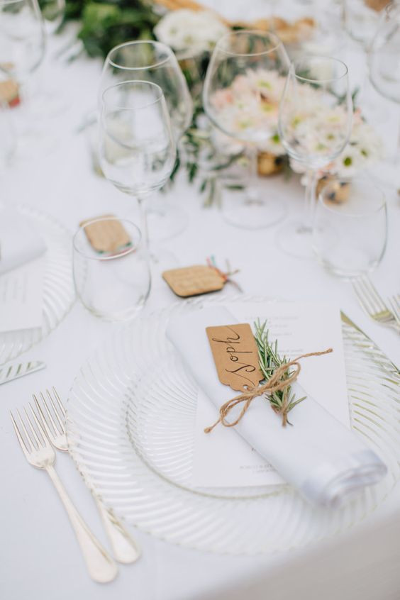 Wedding Place Setting in White