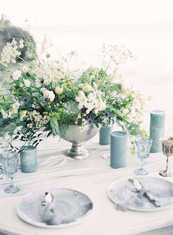 Blue and White Wedding Styling