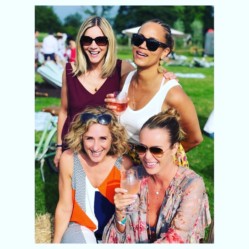 Angela Griffin with friends Lisa, Amanda & Tracy