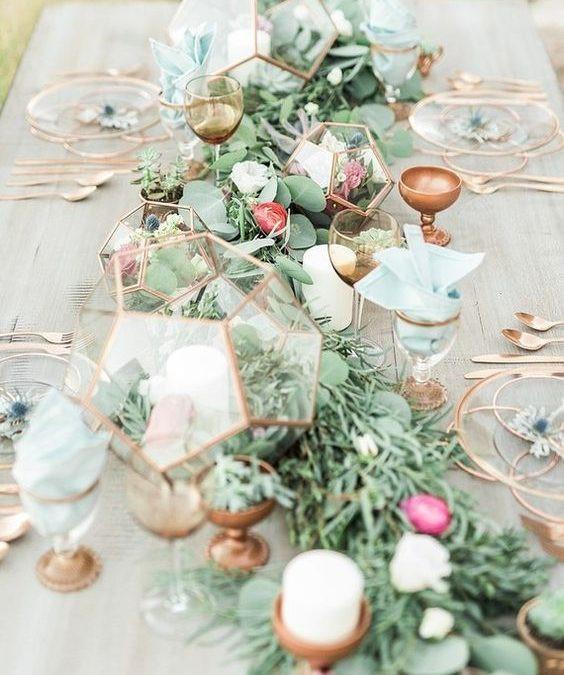 Wedding Table Copper Theme