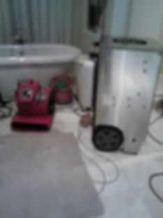 Water Damage Equipment Drying down a room