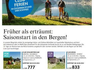 TOP Angebot Schweiz & Österreich Robinson